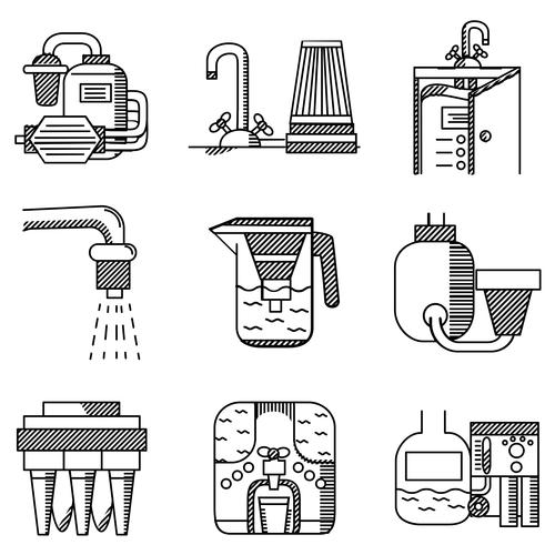 Unterschiedliche Wasserfilter